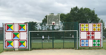 Proposed activity walls for existing MUGA